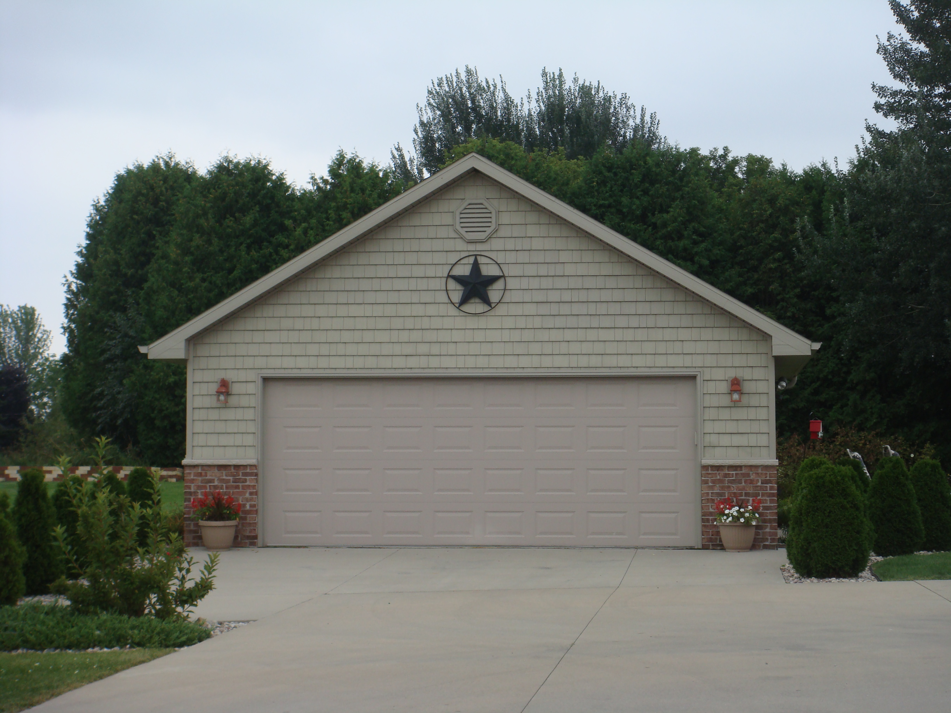 2 car garage brian gorges construction llc for What is the width of a two car garage
