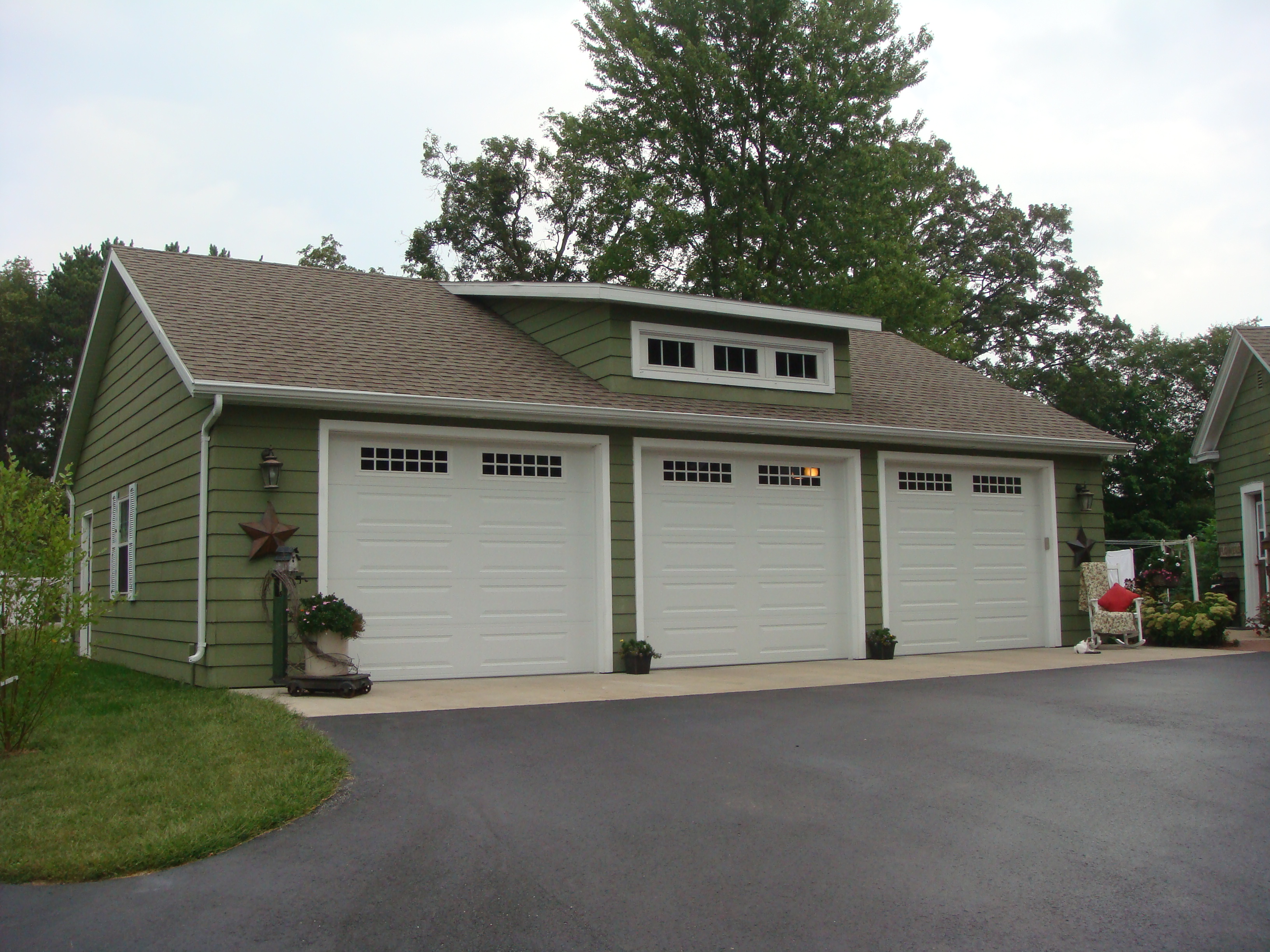 3 car garage w loft brian gorges construction llc for 2 5 car garage